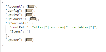OpVariable JSON property | Opisense Documentation